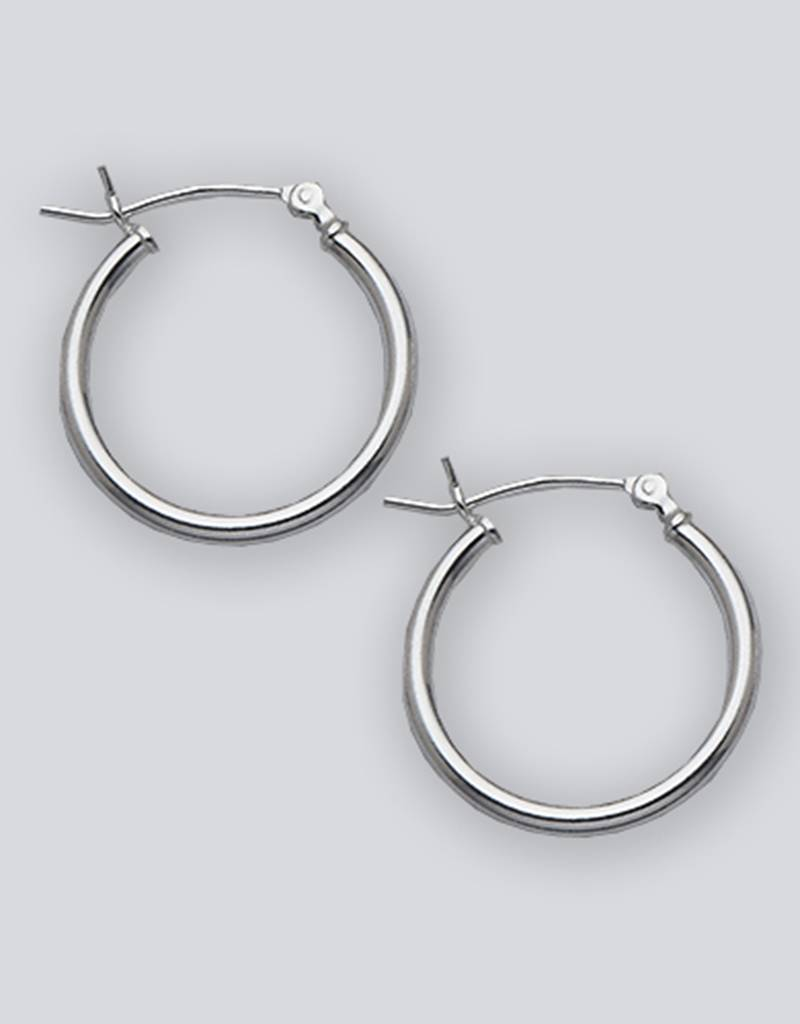 20mm Round Plain Hoop Earrings
