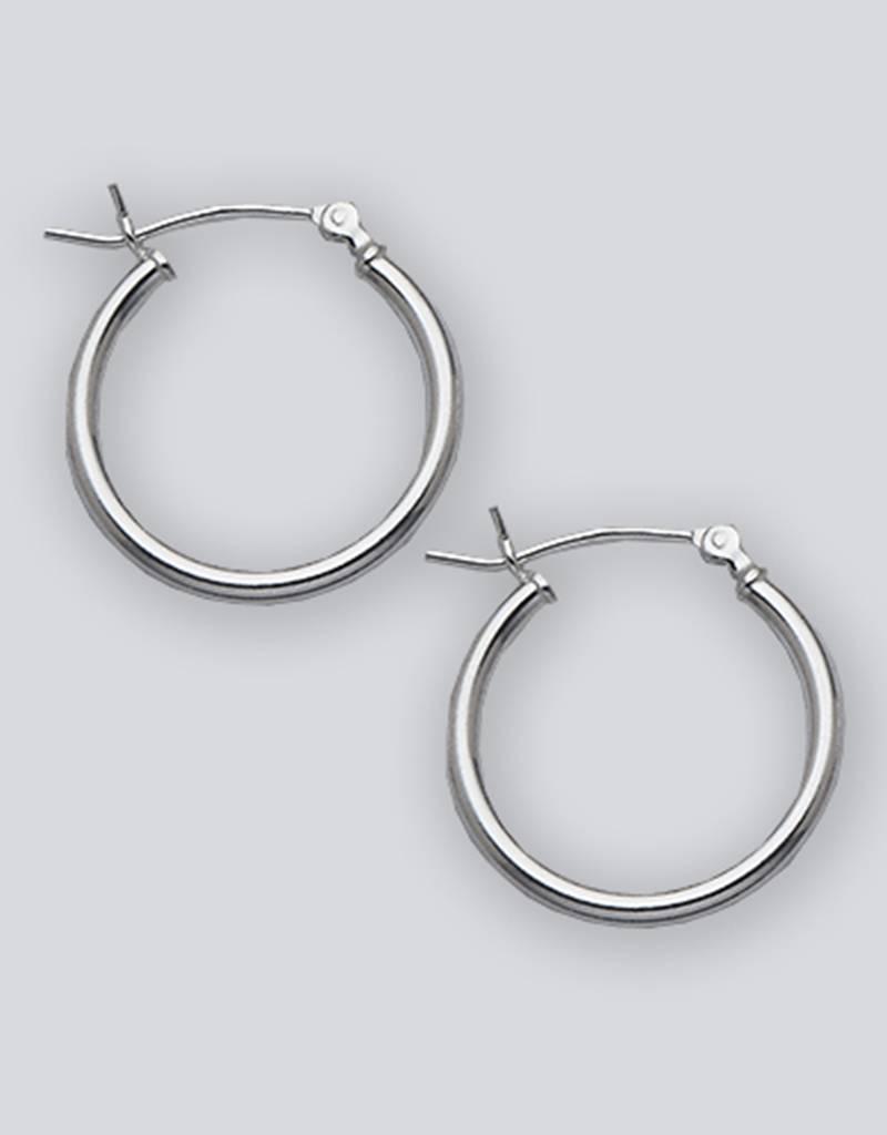 20mm Round Plain Hoop Earrings