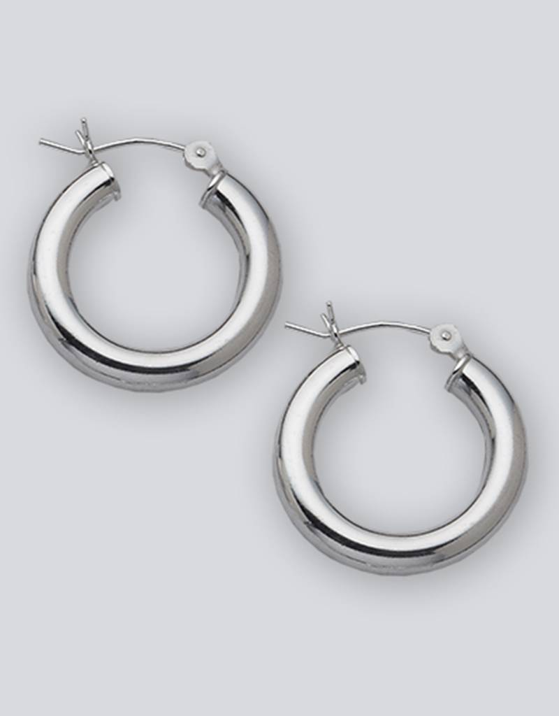 23mm Round Plain Hoop Earrings