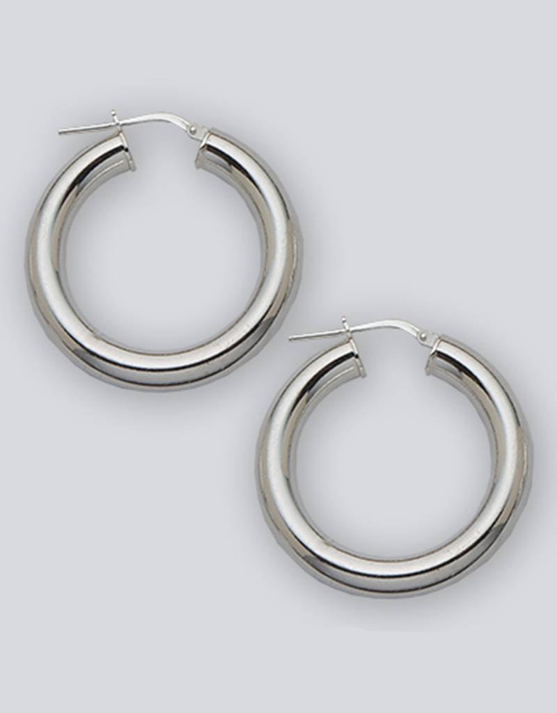 30mm Round Plain Hoop Earrings