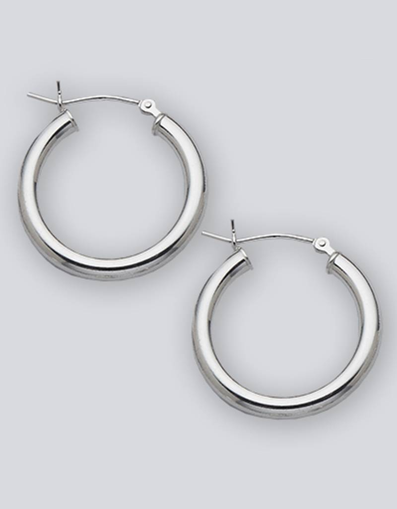 22mm Round Hoop Earrings