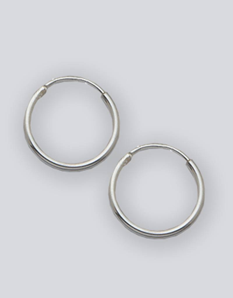 12mm Round Endless Hoop Earrings