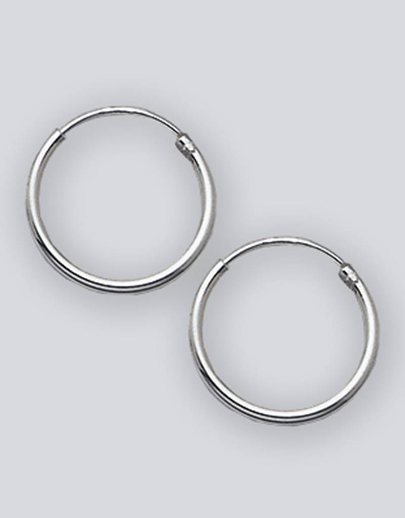14mm Round Endless Hoop Earrings