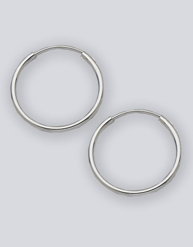 18mm Round Endless Hoop Earrings