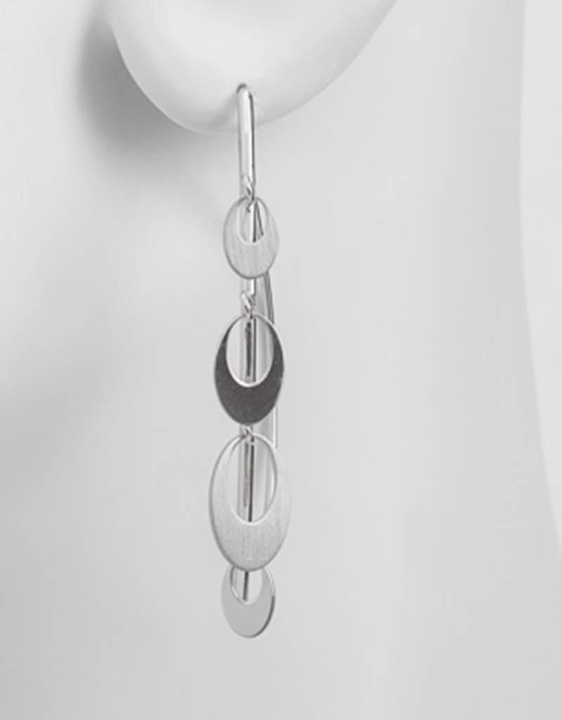 Oval Dangles Wire Threader Earrings