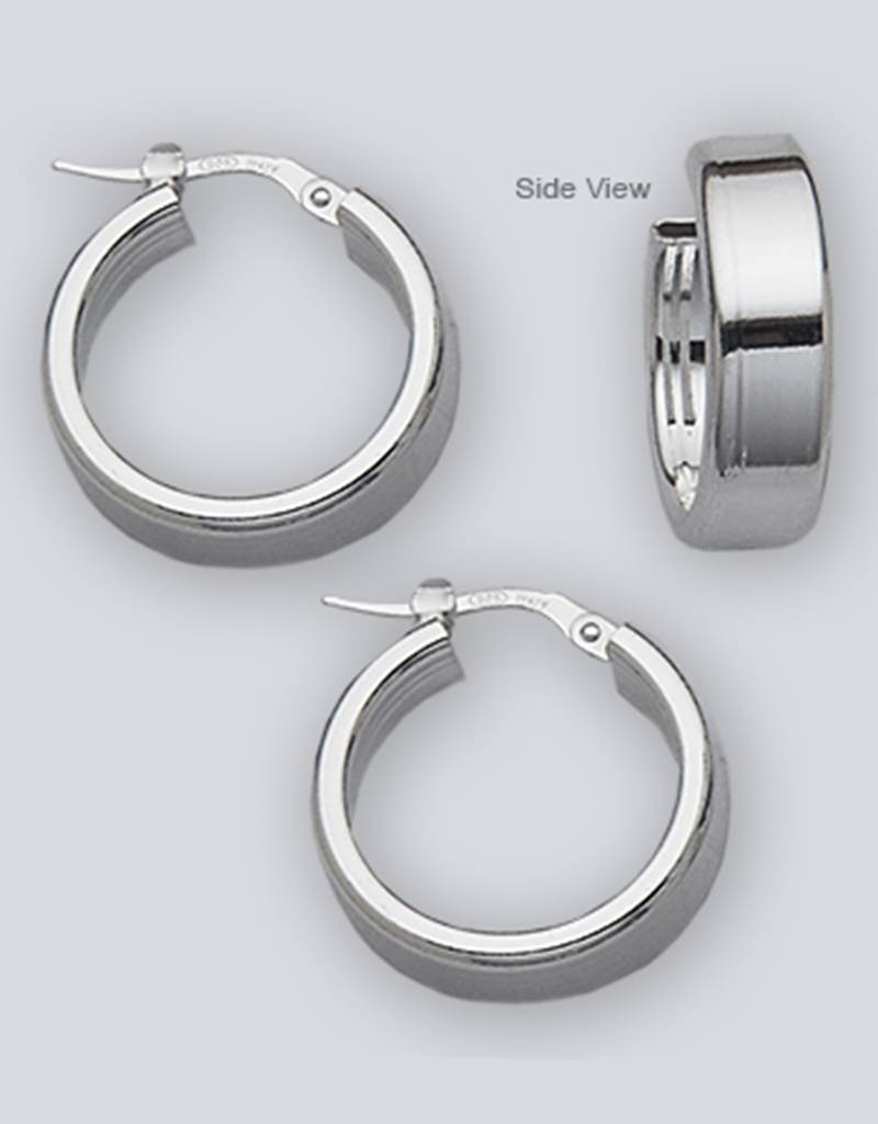 20mm Flat Plain Hoop Earrings