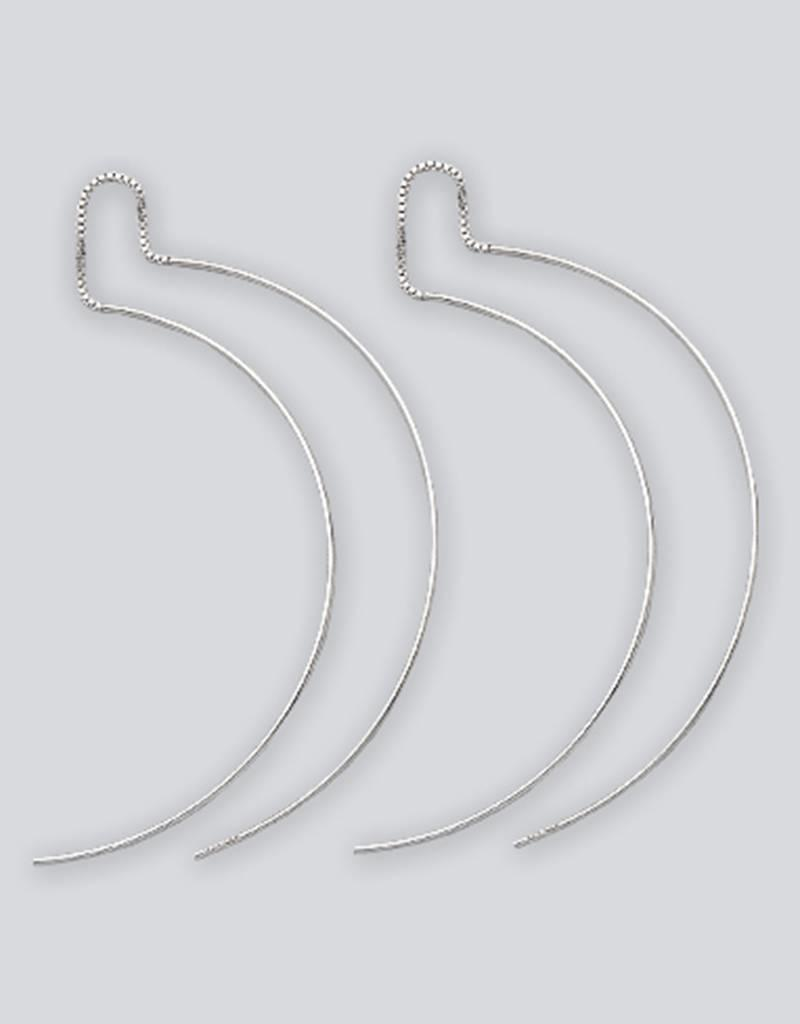 Sterling Silver Curved Wire Threader Earrings