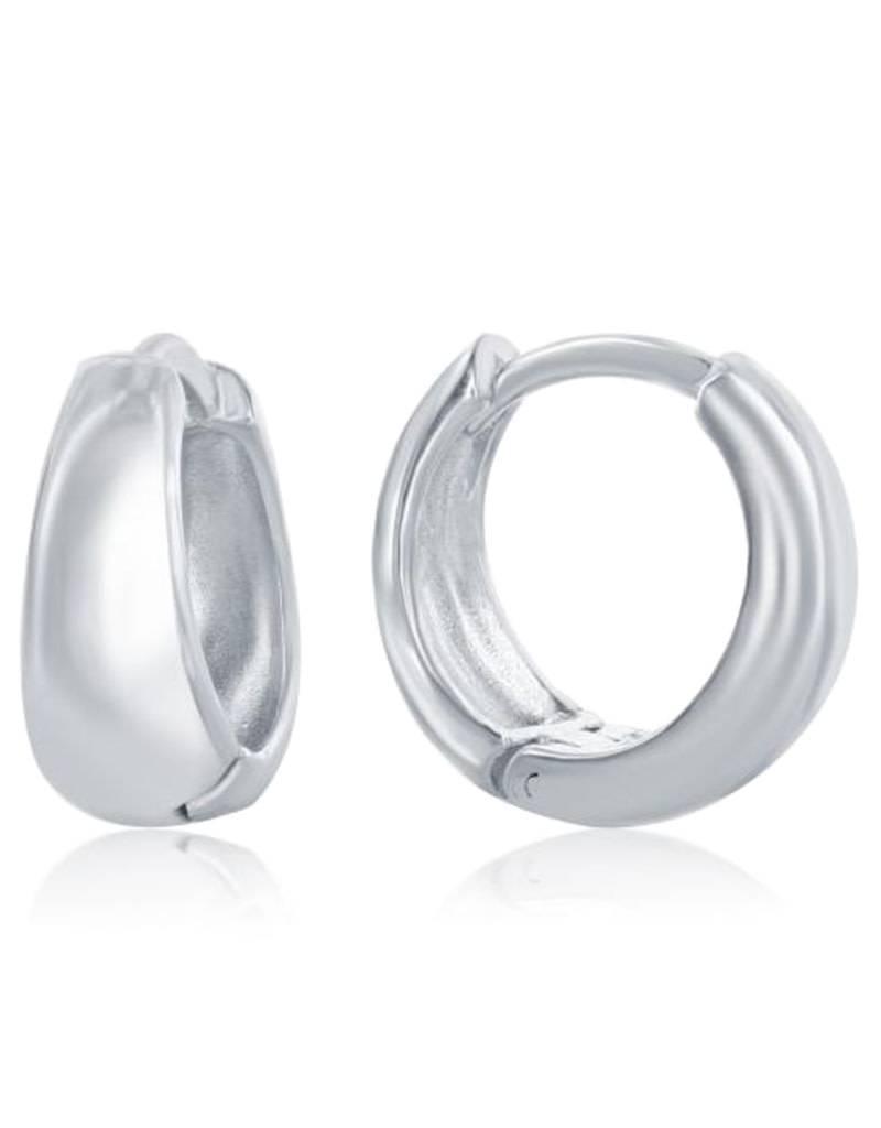 Tapered Huggie Earrings 12mm
