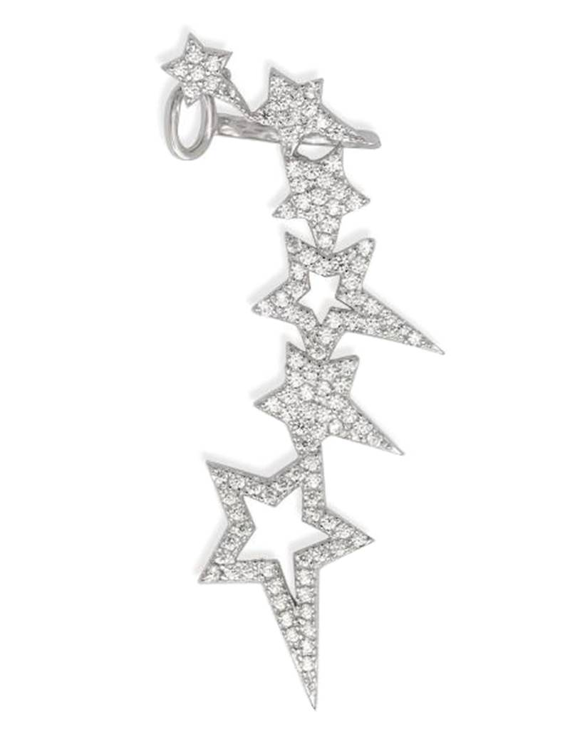 CZ Stars Right Ear Climber 45mm