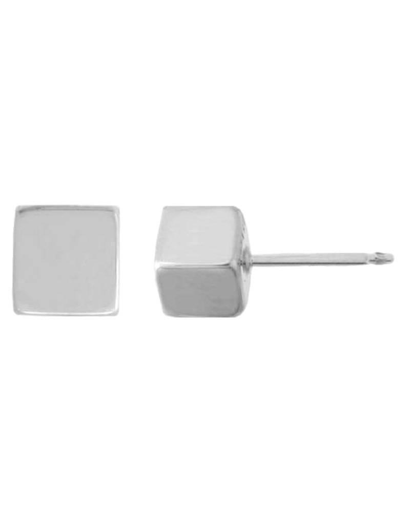 Cube Stud Earrings 5mm