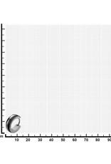 Stainless Steel 1/2 Black Huggie Earrings 13mm