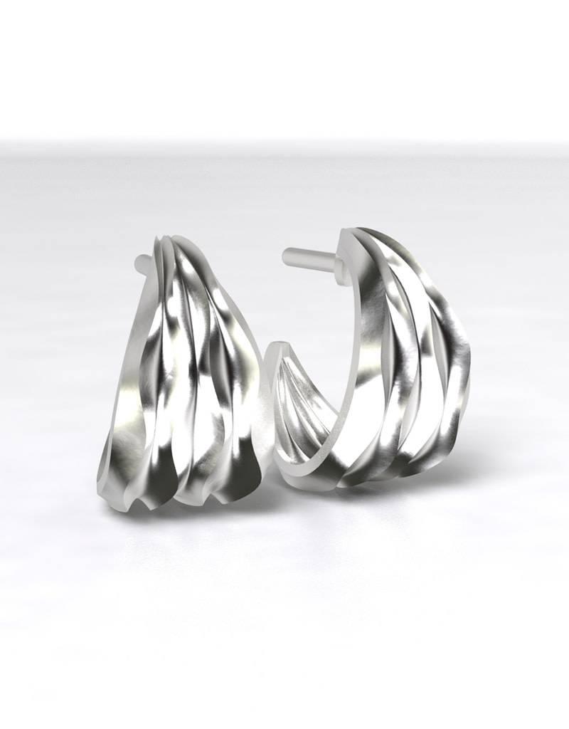 ZINA Desert Waves 3/4 Hoop Earrings