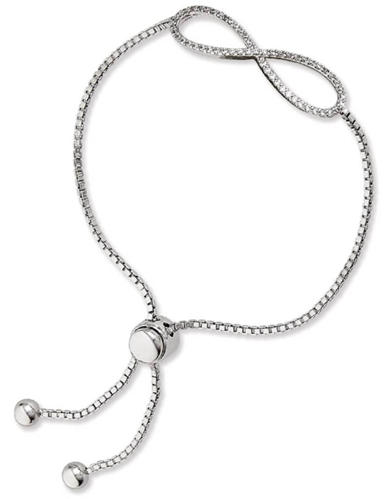 Infinity CZ Adjustable Bolo Bracelet
