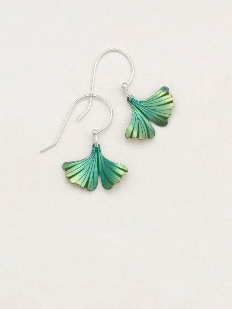 HOLLY YASHI Green Petite Ginkgo Earrings *17266