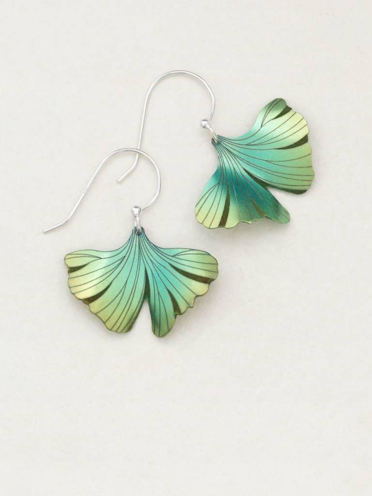 HOLLY YASHI Green Ginkgo Earrings *17256