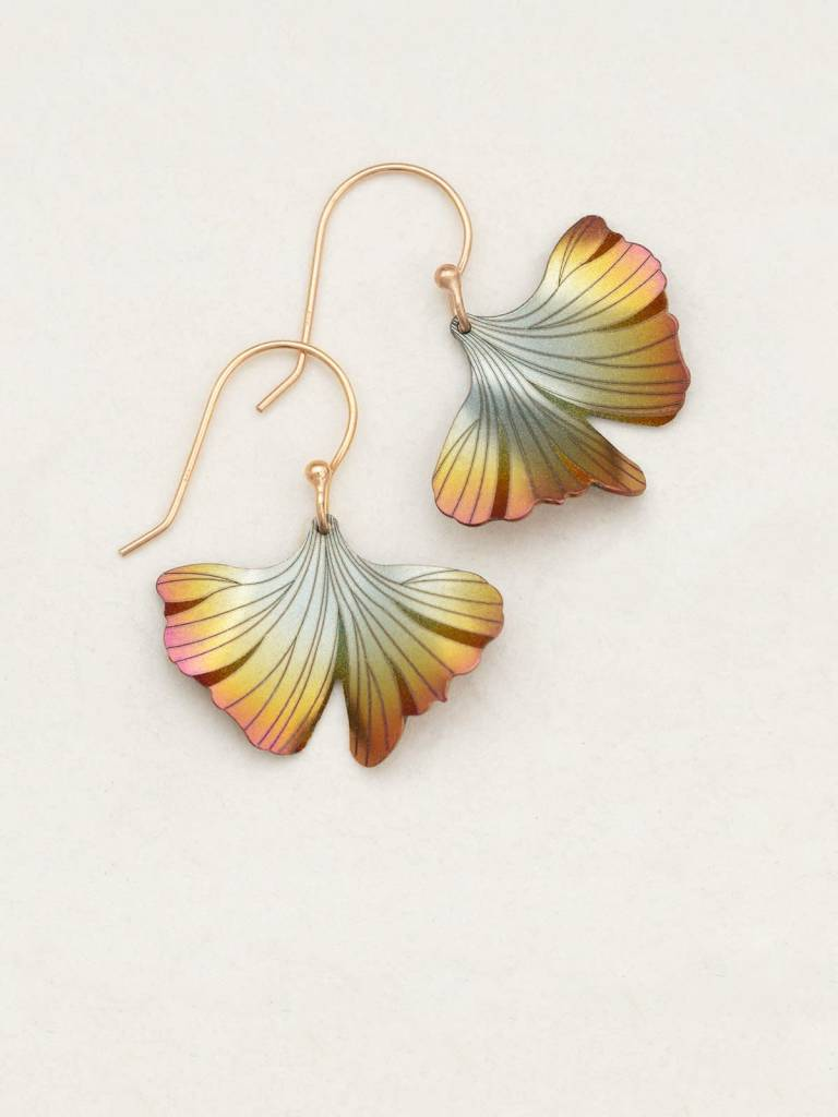 HOLLY YASHI Peach Ginkgo Earrings *17255