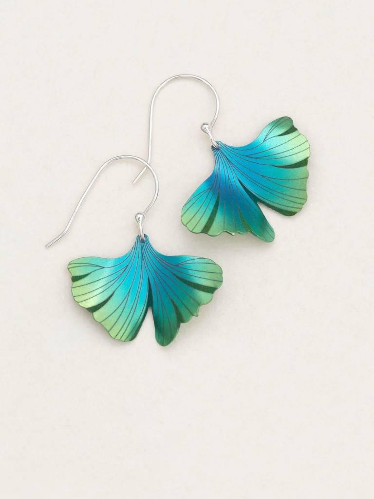 HOLLY YASHI Turquoise Ginkgo Earrings *17254