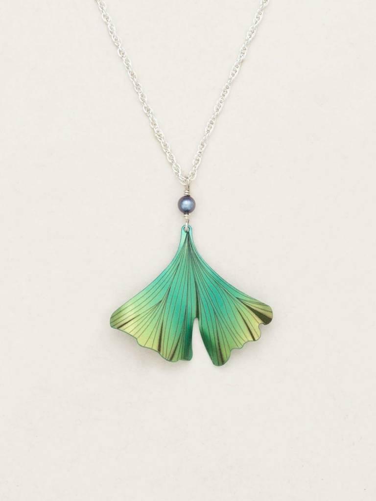 HOLLY YASHI Green Ginkgo Pendant Necklace *17233