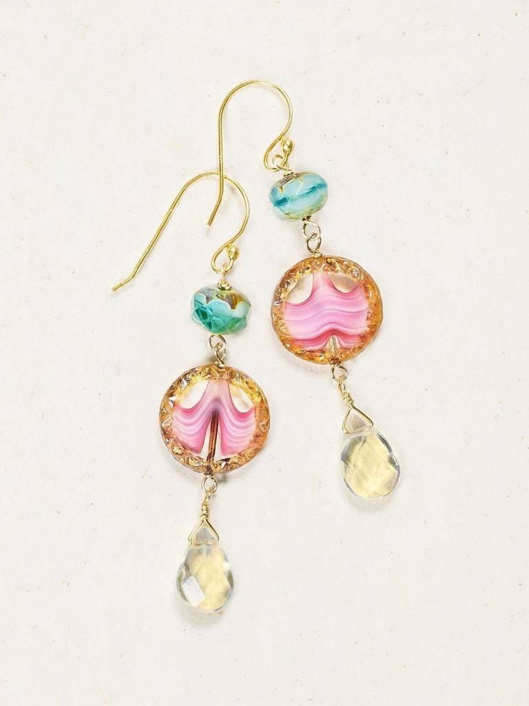 HOLLY YASHI Watermelon Clementine Earrings *13674