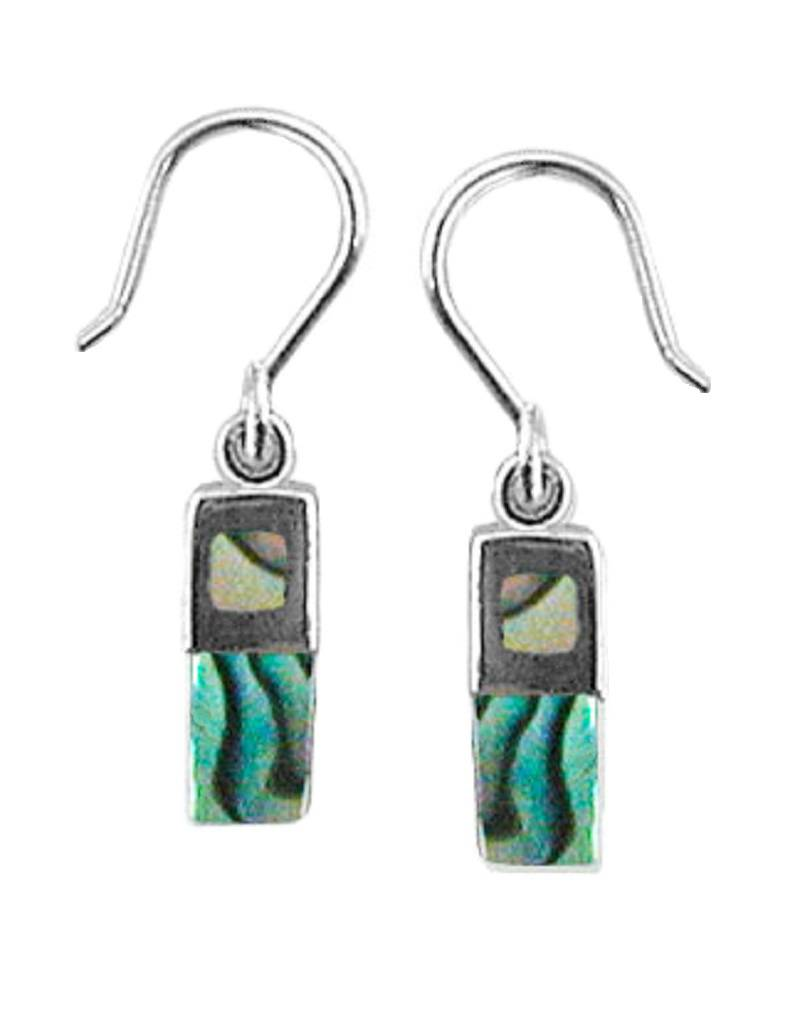 12mm Rectangle Abalone Earrings