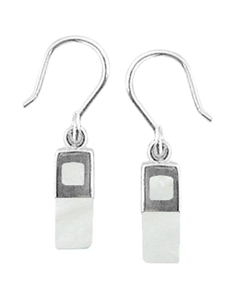 12mm Rectangle MOP Earrings