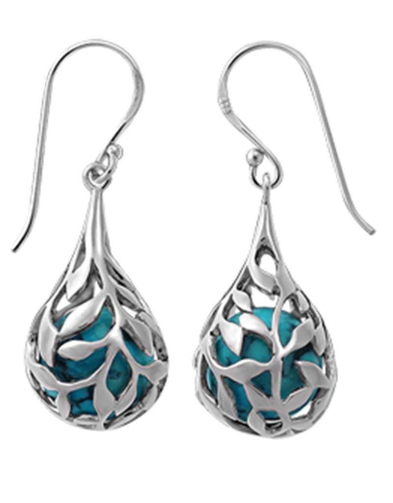 Turquoise Teardrop Earrings 21mm