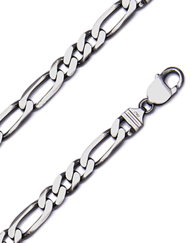 Gunmetal Figaro 250 Necklace
