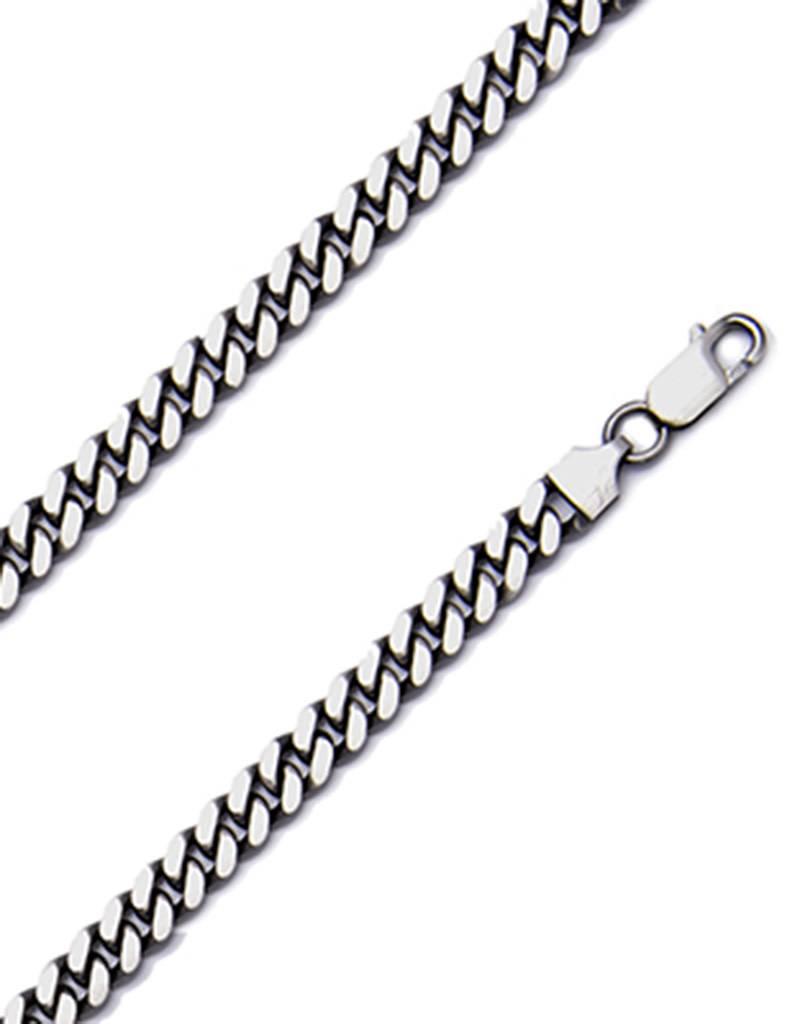 Gunmetal Cuban 180 Necklace
