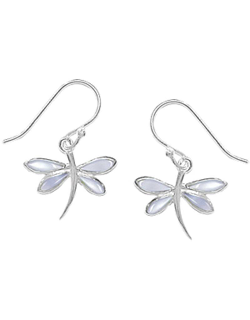 Dragonfly MOP Earrings 12mm