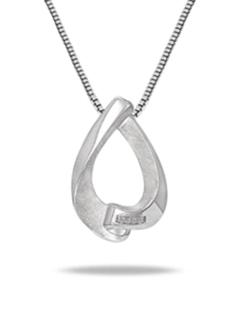 Wavy Teardrop Diamond Necklace