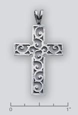 Sterling Silver Cross Pendant 43mm
