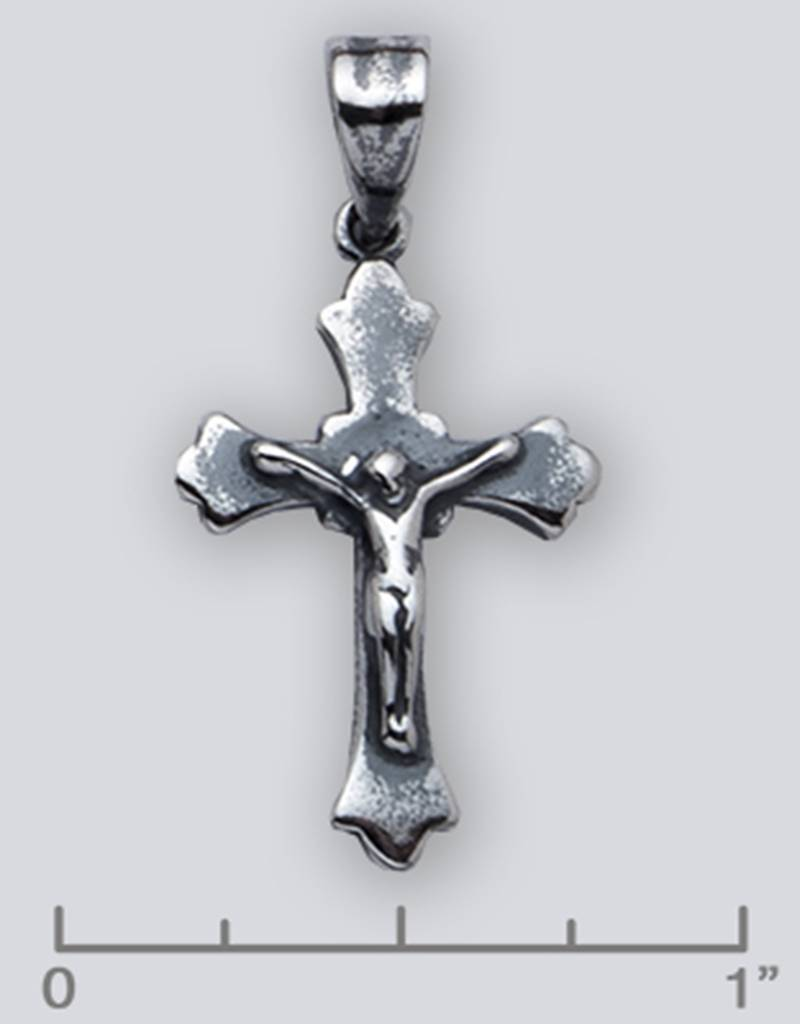 Crucifix Pendant Oxidized 23mm