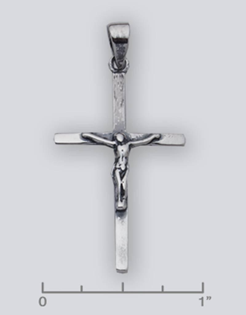 Crucifix Pendant Oxidized 38mm