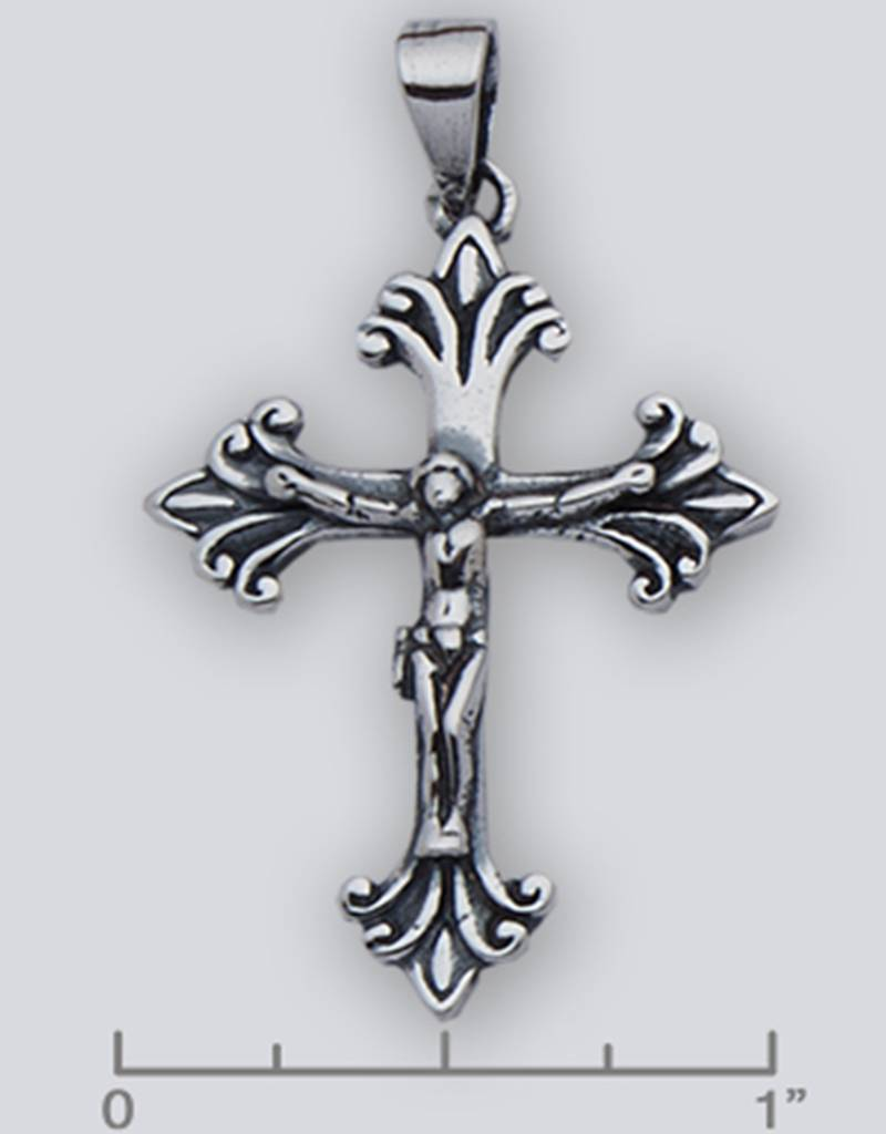 Crucifix Pendant Oxidized 35mm
