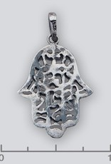 Sterling Silver Hamsa w/ Oxidized Finish Pendant