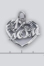 Sterling Silver #1 Mom Charm Oxidized 20mm