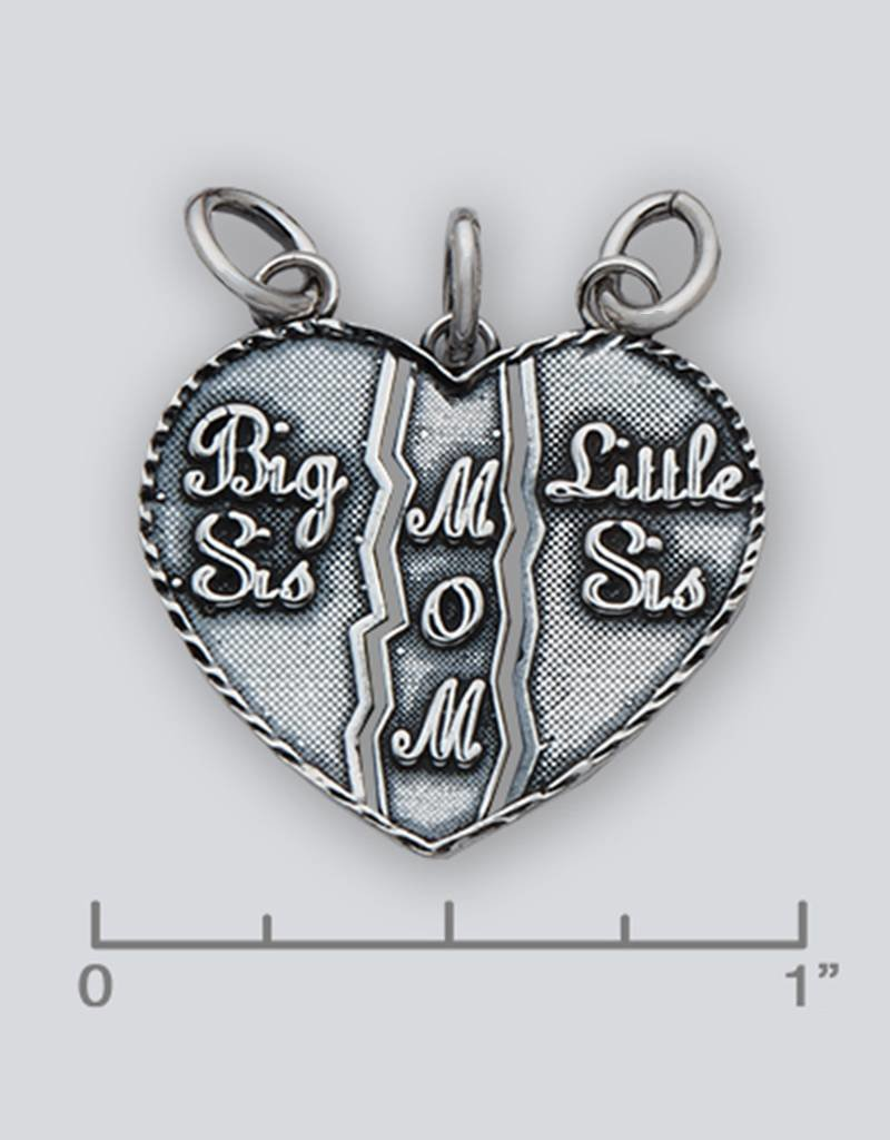 Sterling Silver Sisters/Mom Pendant 24mm