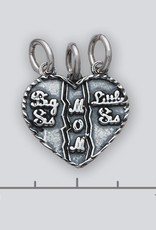 Sterling Silver Sisters/Mom Pendant 17mm