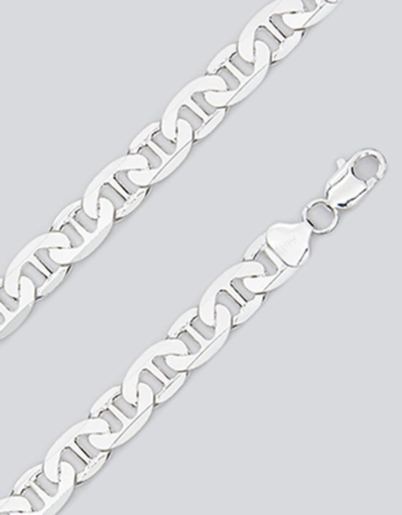 Sterling Silver Super Flat Marina 250 Necklace
