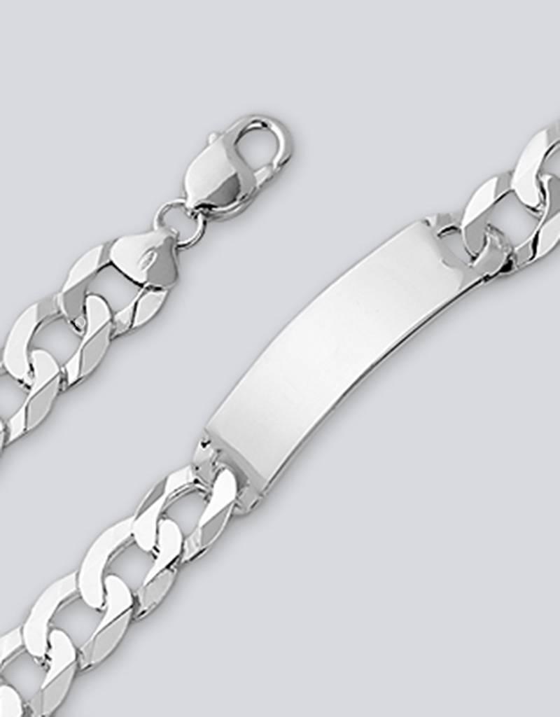 """Flat Curb 350 ID Bracelet 8"""""""