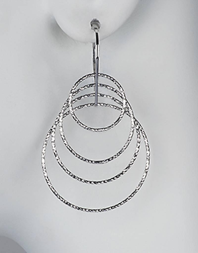 Graduated Ring Dangle Earrings