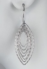 Sterling Silver Multi Marquise Ring Dangle Earrings