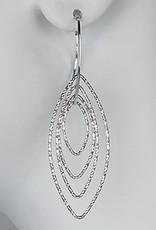 Sterling Silver Marquise Dangle Earrings
