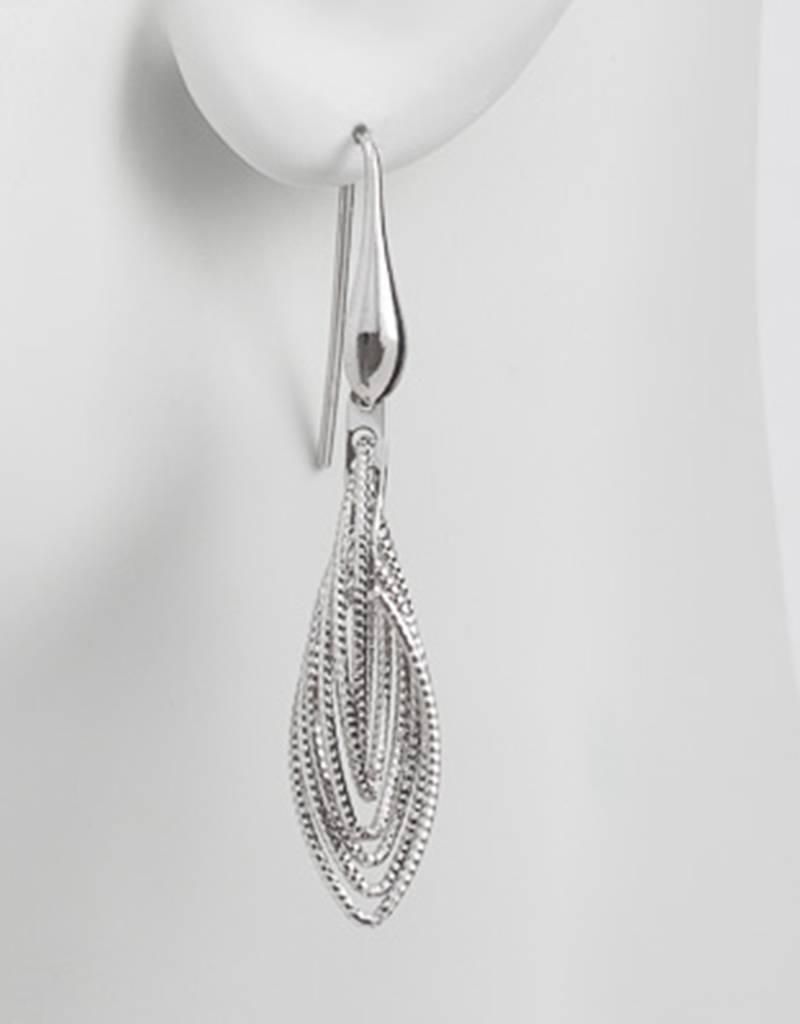 Multi Marquise Dangle Earrings 36mm