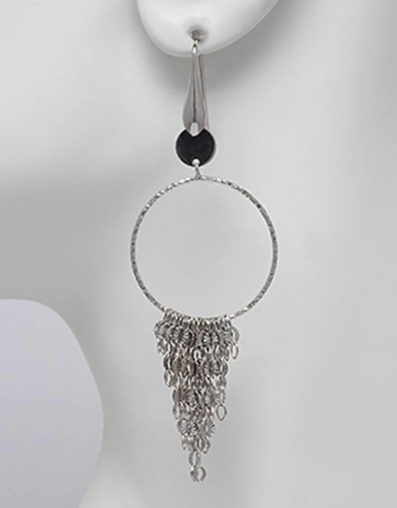 Sterling Silver Ring with Dangles Earrings 85mm