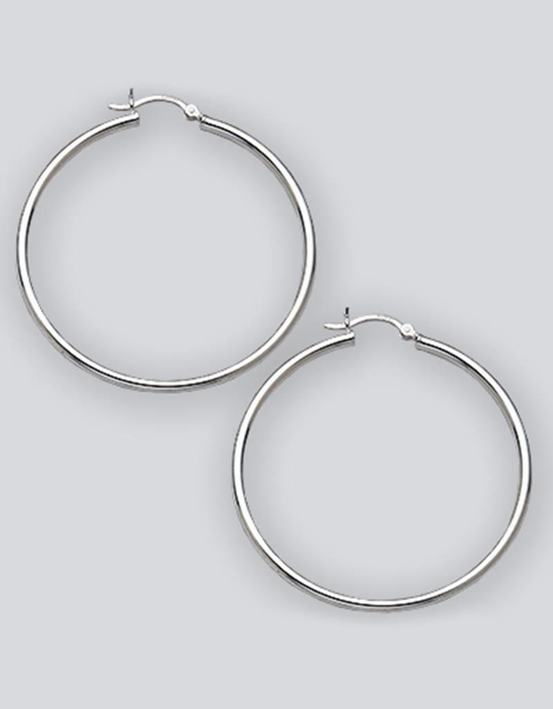 Sterling Silver Hoop Earrings 50mm