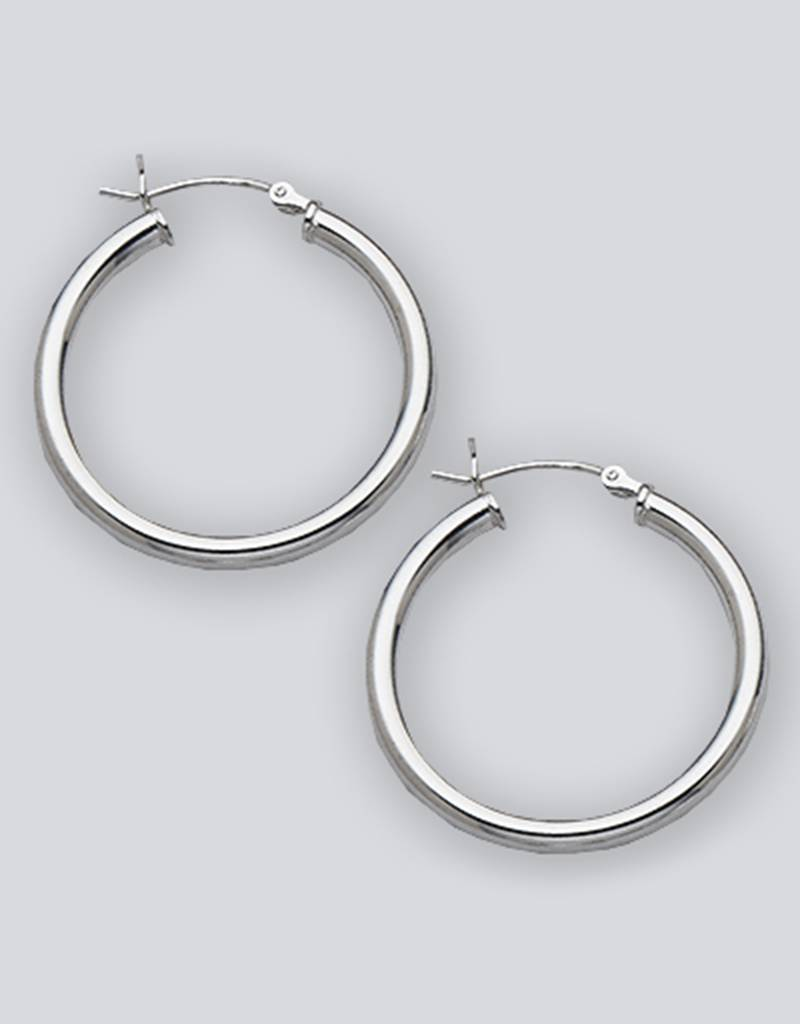 30mm Round Hoop Earrings