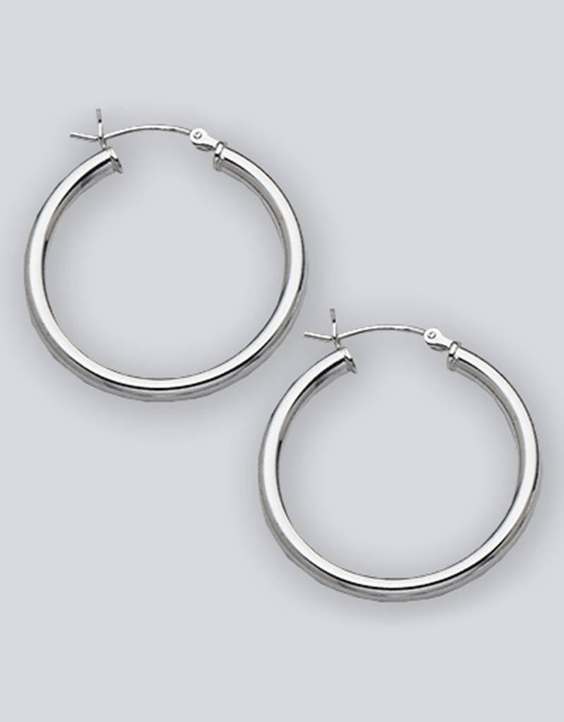 30mm Round Hoop Earrings