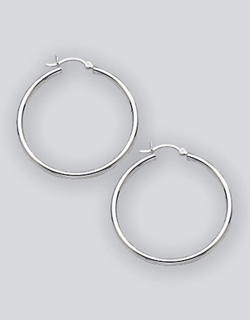Sterling Silver Hoop Earrings 40mm