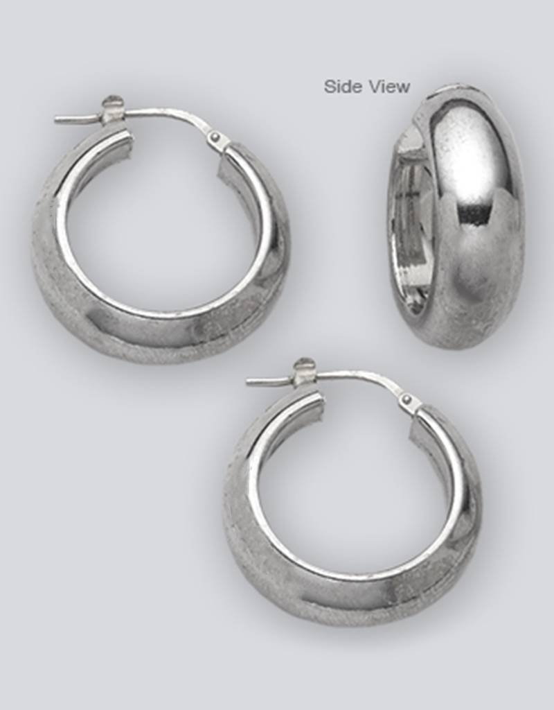 1/2 round Hoop Earrings 22mm